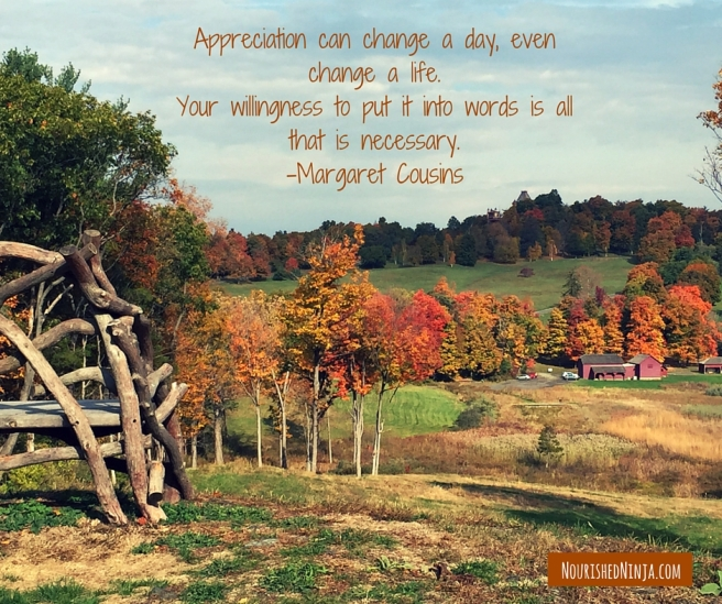 "%22Appreciation can change a day, even change a life. Your willingness to put it into words is all that is necessary."" -- Margaret Cousins"