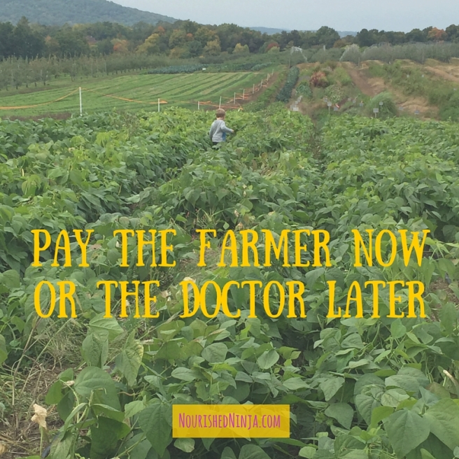 Pay the farmer nowor the doctor later