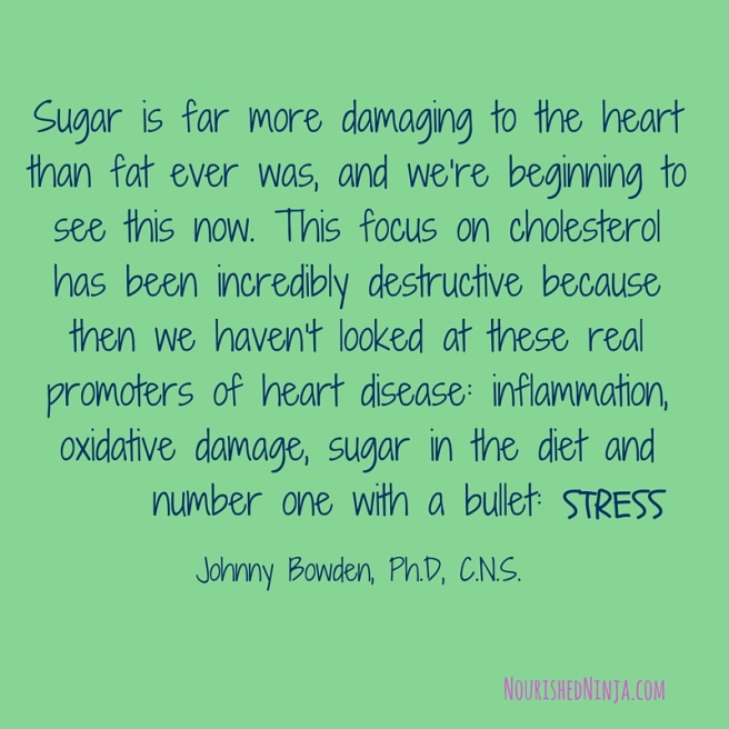 Sugar is far more damaging to the heart than fat ever was, and we're